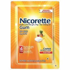 Nicorette Fruit Chill Coated Gum 4mg 200 pc Nicotine Polacrilex Quit Smoking Aid