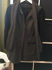 French Connection Size 6 Tweed Style Duster Coat (e8)