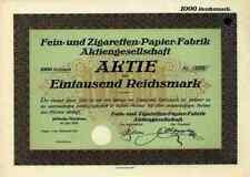 Fein und Zigaretten Papier AG 1928 Köbeln Muskau OFM Gernsbach Baden Neidenfels