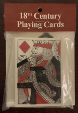PLAYING CARDS 18TH CENTURY Colonial Revolutionary WAR NEW Replica