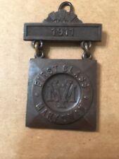 Antique Bronze Massachusetts Volunteer Militia First Class Marksman Medal Badge