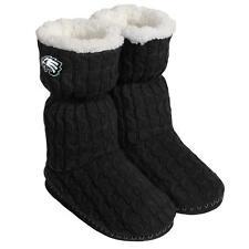 Philadelphia Eagles NFL Women's Black Bootie Slippers, Size XL (11/12) - NWT