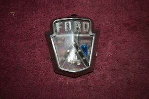 1952 Ford Customline, Mainline, Crestline Hood Emblem Good Original