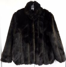 Donna Salyers Fabulous Fur Coat Ladies Medium Glossy Brown Mink Jacket