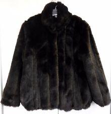 Donna Salyers Fabulous Fur Coat Ladies Medium Glossy Brown Mink Jacket