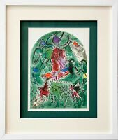 "Marc CHAGALL Lithograph LIMITED Edition ""Gad"" + Cat .Ref.c49 w/Gallery Frame"