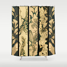SHOWER CURTAIN w/EXCLUSIVE COMPELLING SOLAR ETCHED DESIGN ~ Stunning Unique