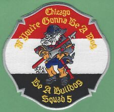 CHICAGO FIRE DEPARTMENT SQUAD COMPANY 5 PATCH NEW STYLE