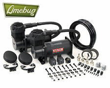 VIAIR DUAL Stealth Black TWIN 12 Volt 380c compressore d'aria (200psi) Kit Air Ride