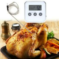 Electronic Thermometer Timer Food Meat Temperature Meter Gauge