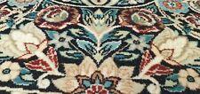 Legendary Antique Cr 1939's Vivid Natural Dye Wool Pile Round Hereke Rug 9x9ft
