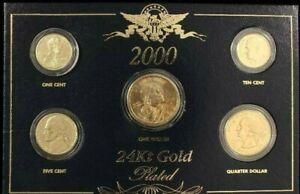2000 US Mint Proof Set 24Kt Plated