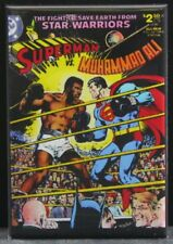 "Superman Vs. Muhammad Ali Comic Book 2"" X 3"" Fridge / Locker Magnet. DC"