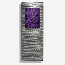 Statements2000 Modern Metal Wall Clock Art Decor by Jon Allen Purple Radiance