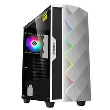 GameMax Diamond Mid Tower Gaming Case - White USB 3.0