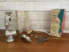 UNIVERSAL Gourmet Food And Meat Chopper Climax Cast Iron w manual Model 1551
