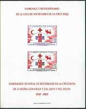 CHILE, NICE SOUVENIR BLOCK - 50º YEARS - RED CROSS SOCIETY