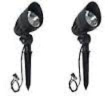 2- Malibu Low Voltage Led Metal Light 50w  Floodlight Lighting 8401-2650-01 Used