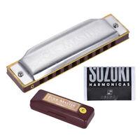 Suzuki Folkmaster Standard 10-Hole Diatonic Harmonica Key of C 20 Tone J8G8