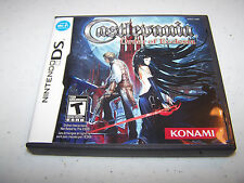 Castlevania Order of Ecclesia Nintendo DS Lite DSi XL 3DS 2DS w/Case & Manual
