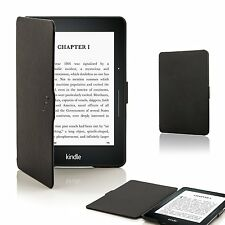 Forefront Cases Leather Shell Case Cover for Amazon Kindle Voyage 2014 - Black