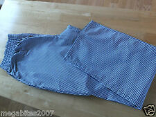 MENS NAVY AND WHITE CHECKERED CHEFS TROUSERS Small - 2 XL