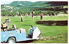 1960's PUBLIC GOLF COURSE Estes Park Colorado CUSHMAN CART Golfers CLUBS Golfing