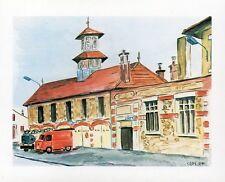 DRAVEIL - Carte postale couleurs neuve - La caserne des pompiers + Claude CAPY