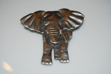 Pin Done In Gray Tone Metal Vintage Marked Na Jg 1994 African Elephant