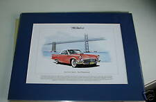 Ford Thunderbird Mounted colour USA car Print