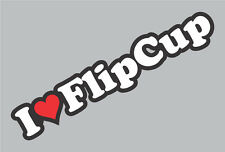 I Heart Flip Cup Sticker - College beer pong flipcup