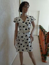 Vtg One Piece Oops of California Black & White Polka-Dot Culottes Outfit (#0994)