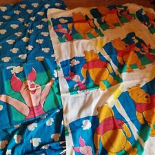 Vintage Disney Winnie the Pooh and Piglet Sheets Twin Bed 3 Piece Ensemble Set