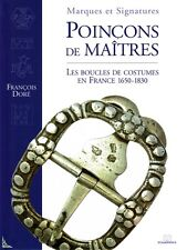 Silver marks of French buckles for fashion 1650 - 1830