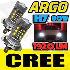 H7 PROJECTOR SUPER WHITE CREE HIGH POWERED 499 LED SMD 80W BULBS LAMP LIGHT 2X