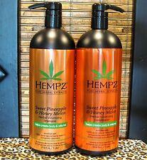 Hempz Sweet Pineapple Melon Volumizing Shampoo & Conditioner 33.8 oz Liter Set
