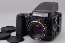 【AB- Exc】Mamiya M645 SUPER AE Finder w/SEKOR C 80mm f/2.8, Grip From JAPAN #2594