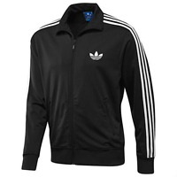 Mens New Adidas Originals ADI Firebird Black Tracksuit Track Jacket Top Fleece