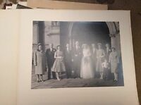F1m  8x6 inch on card  bw photograph wedding guests bride groom 1960s A