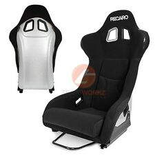 2x JDM Rear Silver Color Bull Shape Lightweight Racing Sport Bucket Seat (Pair)