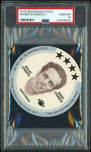 1976 Buckman's Discs Roger Staubach PSA 10 GEM MINT