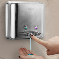 Dispenser Sapone Liquido Doppio Parete Muro Bagno Acciaio Inox 1,5L Portasapone