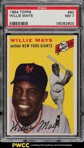 1954 Topps Willie Mays #90 PSA 7 NRMT