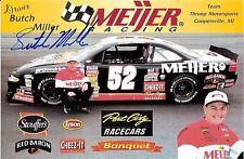 2001 BUTCH MILLER signed NASCAR ASA RACING meijer PHOTO CARD POSTCARD wCOA hero