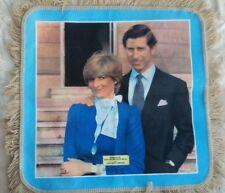 "Unused Princess diana wedding souvenir  2'6"" fringed woollen square"