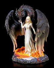 Drachen Figur mit Jungfrau - Born of the Flames - Veronese Prinzessin Fantasy