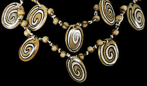 Tibetan Necklace Beads Bone 48 Inch SALE WAS $29.00