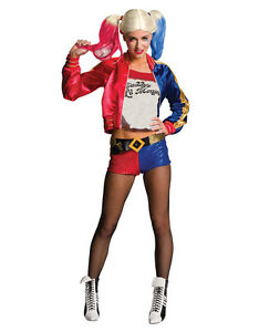 """Harley Quinn Womens Outfit, Large, (USA 14 - 16), BUST 40 - 42"""", WAIST 35 - 38"""""""