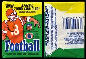 1986 Topps Football Unopened Wax Pack - Possible Jerry Rice Rookie