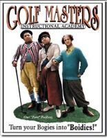 Three Stooges Classic Comedy Golf Masters Retro Wall Decor Metal Tin Sign New